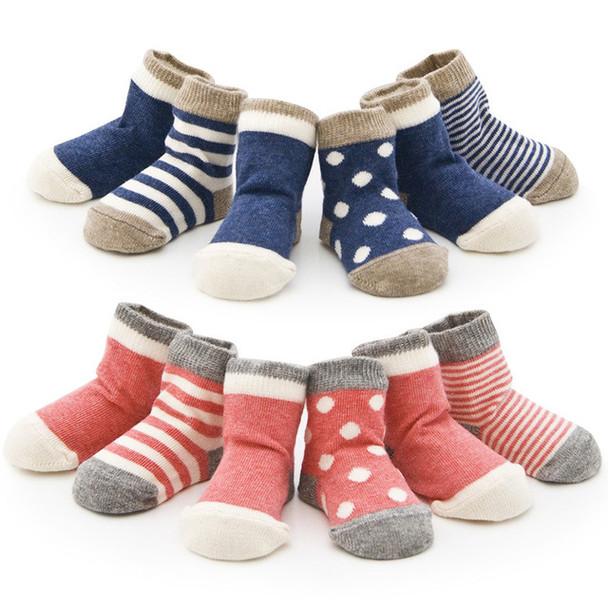 DreamShining Spring Baby Socks Set 4 pair Cotton