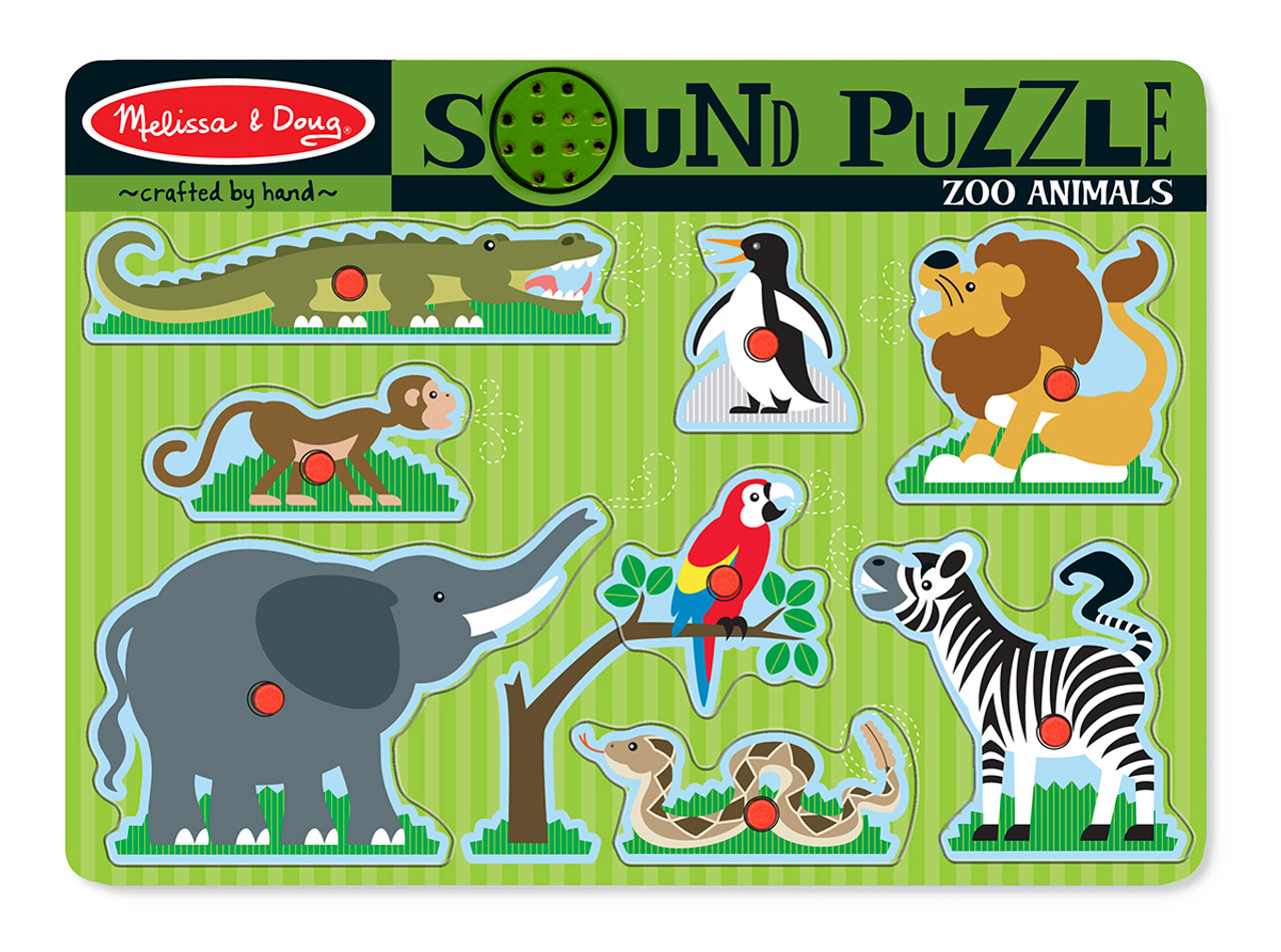 Cause And Effect Toys : Animal sound puzzles cause effect toys for autism