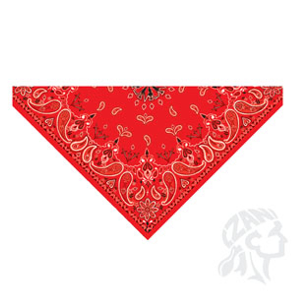 3-IN-1 Headband System, 100% Cotton, Red Paisley, Velcro