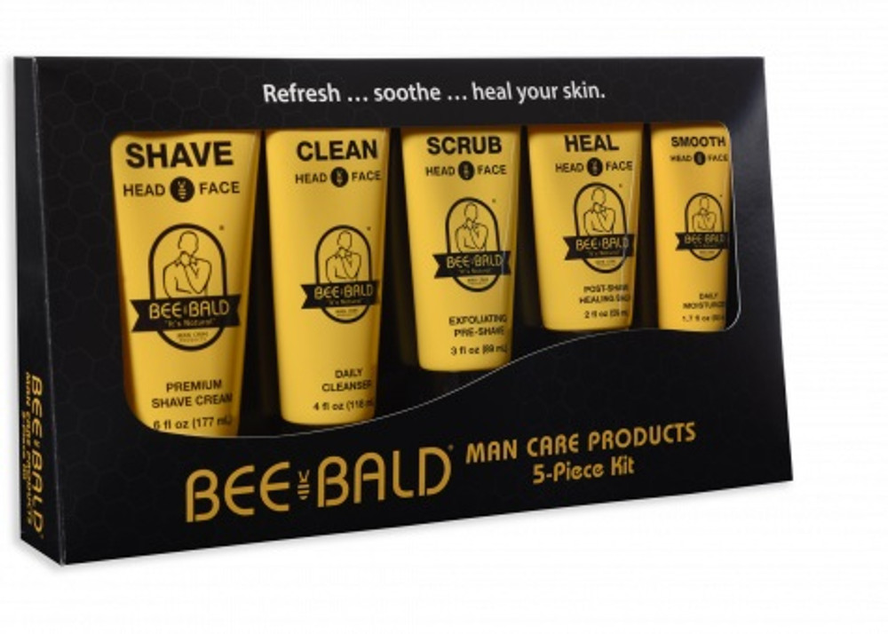 BEE BALD 5 PIECE SKIN CARE KIT