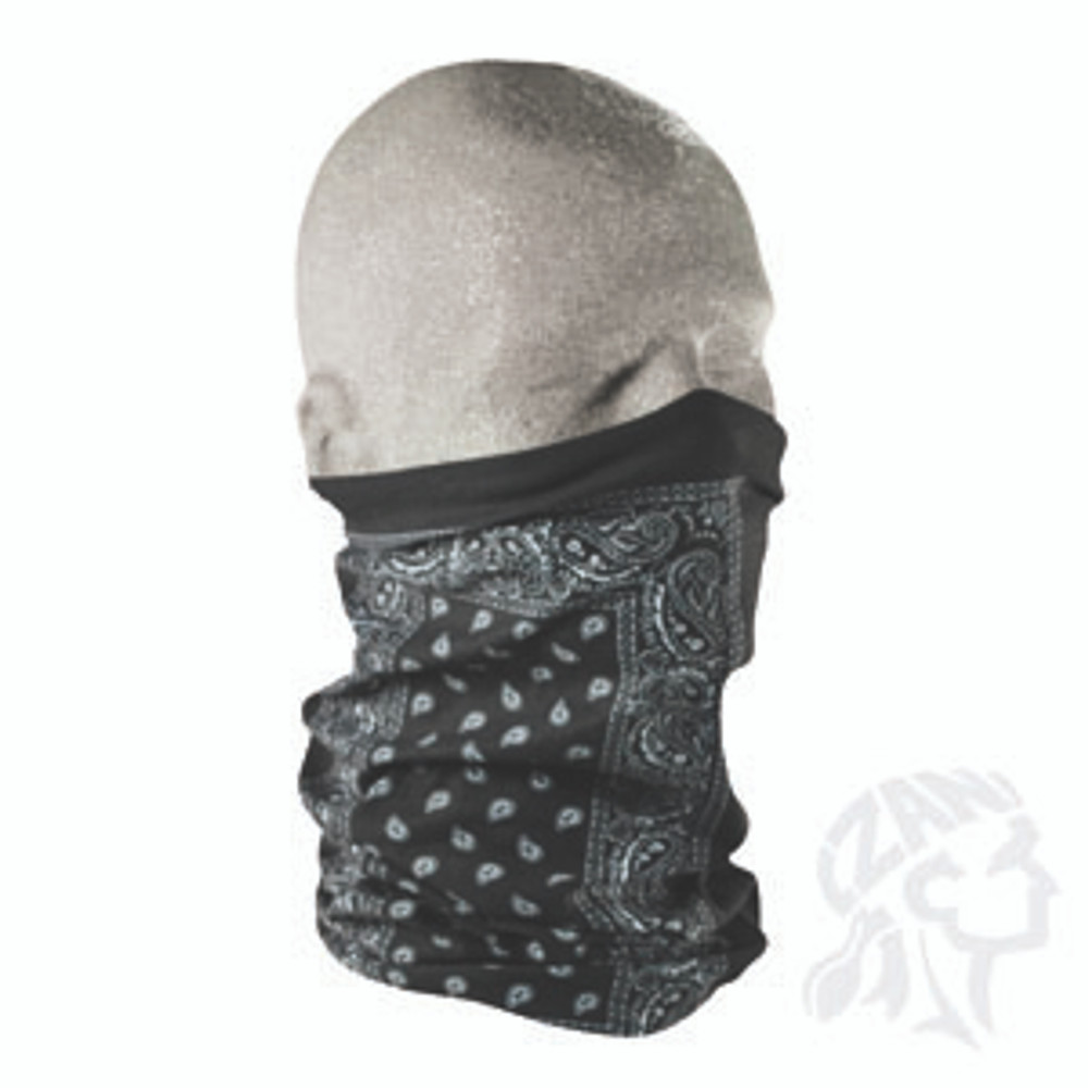 Motley Tube, 100% Polyester, Black Paisley, Multifunctional Headwear