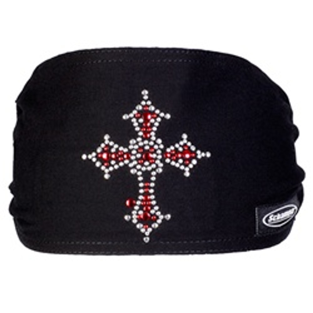 "Jeweled Mini ""Old School"" Doo-Z - Stone Red Silver Cross"