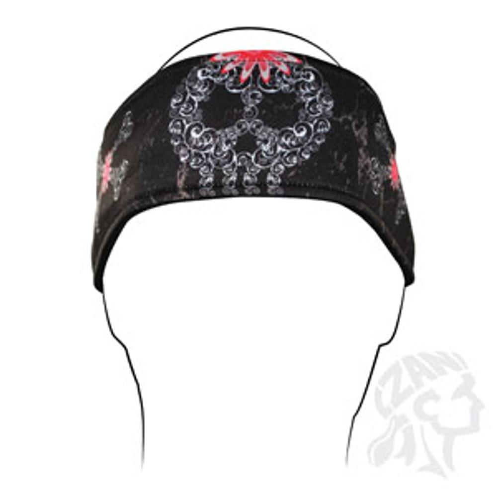 Headband, Filagree Skull