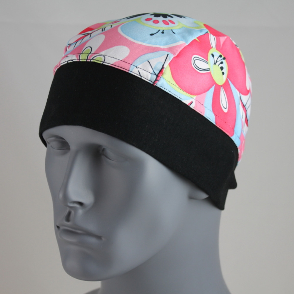Schampa, Z-wrap, Stretch Bandana, Pink Flower