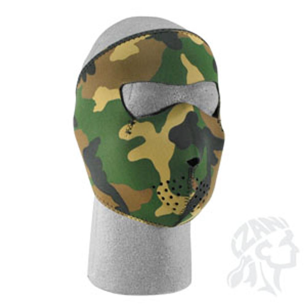 Woodland Camo - Neoprene Face Mask