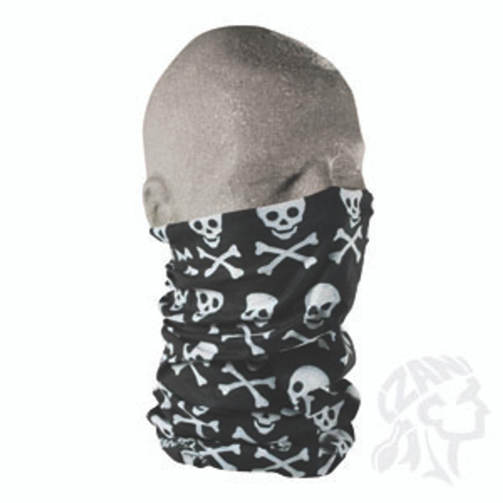 Motley Tube, 100% Polyester, Crossbones, Multifunctional Headwear