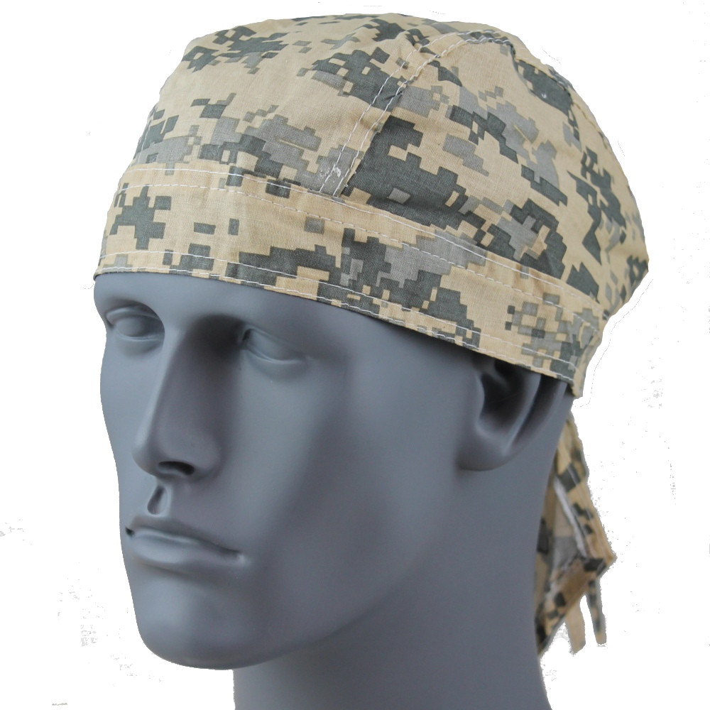 Rider Headwrap - Military Camo Green