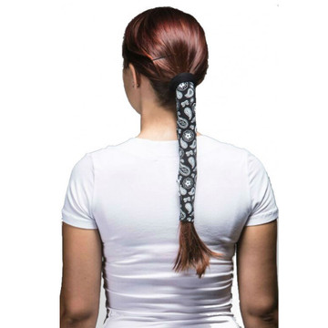 Wrapter Hair Tube - Black Paisley