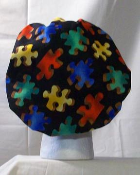 Bouffant Style Scrub Cap - Puzzles - By NoMoreKnots