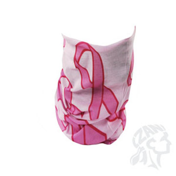 Motley Tube, 100% Polyester, Pink Ribbon, Multifunctional Headwear