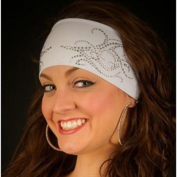 Clear Rhinestone Tribal Scroll Stretch HeadBand