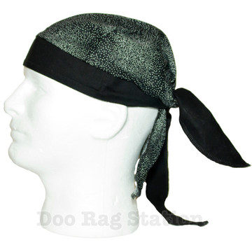Black With White Flecks By Doo Rag Station