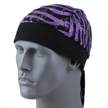 Purple Stripe Lace By Doo Rag Station
