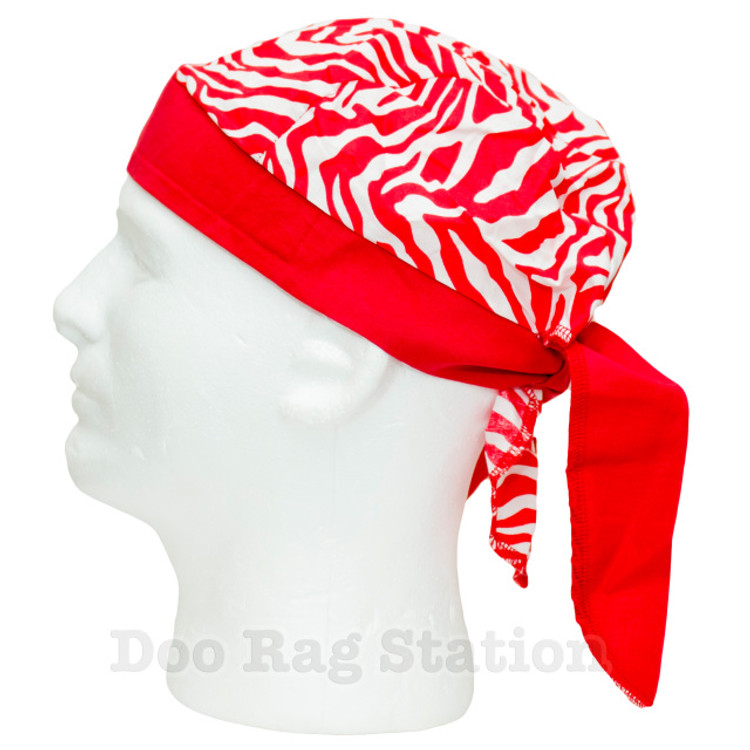 Red Zebra With Tie Straps By Doo Rag Station