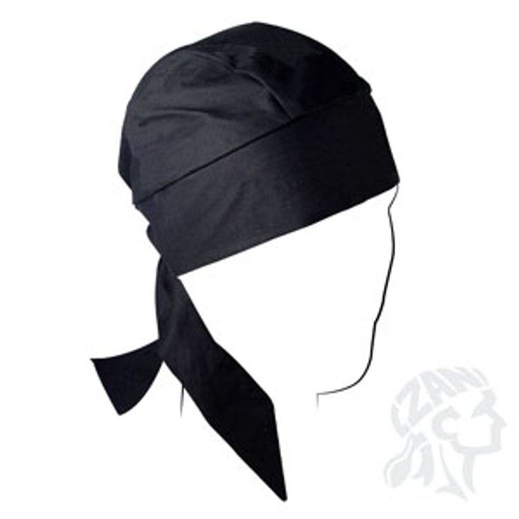 Deluxe, Flydanna, Solid Black, W/Sweatband