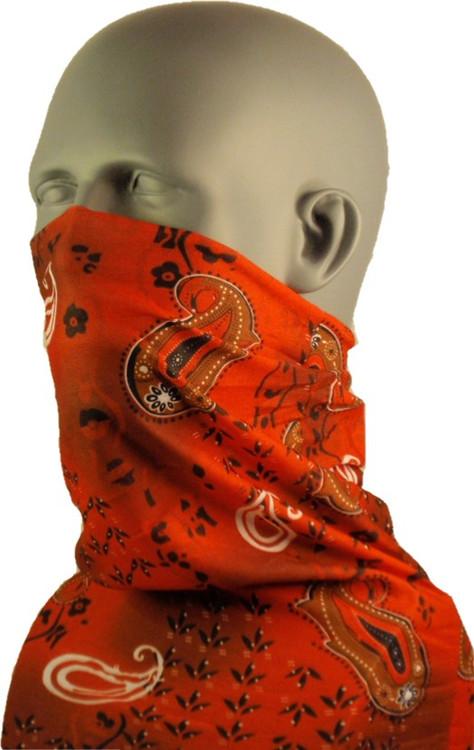 Schampa Tube, Red Paisley, Multifunctional Headwear