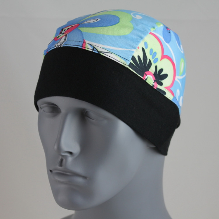 Schampa, Z-wrap, Stretch Bandana, Blue Flower