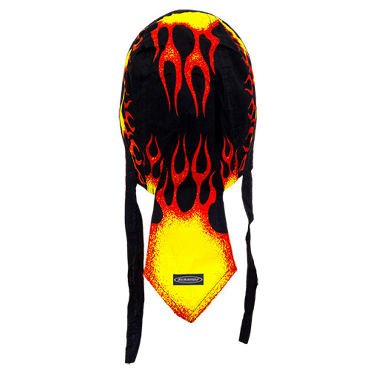 Rider Headwrap - Burning Flames - Yellow & Red