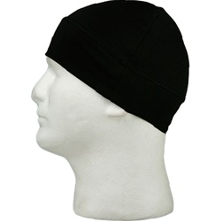 Skull Cap - Black - Double Layer Cuff