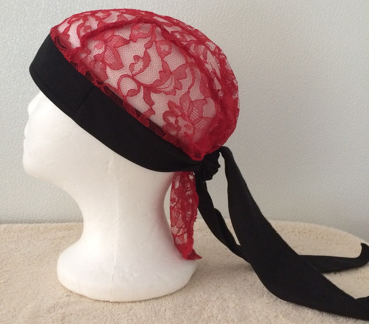 Red Lace by Doo Rag Station