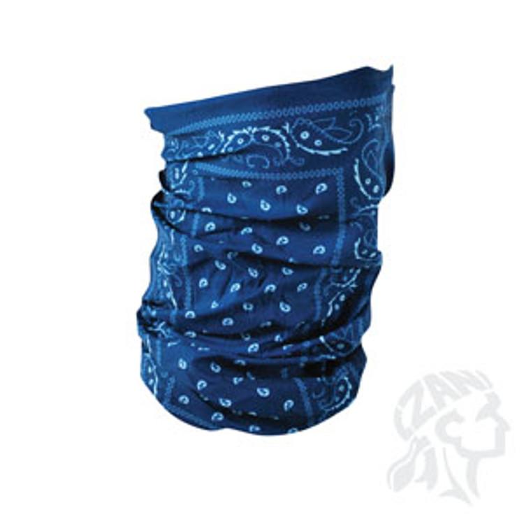 Motley Tube, 100% Polyester, Blue Paisley, Multifunctional Headwear