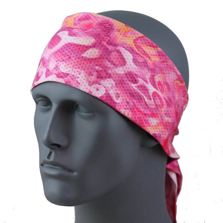 "Pink Tranquility SoftSpun Stretch 3.5"" HeadBand By DesignWraps"