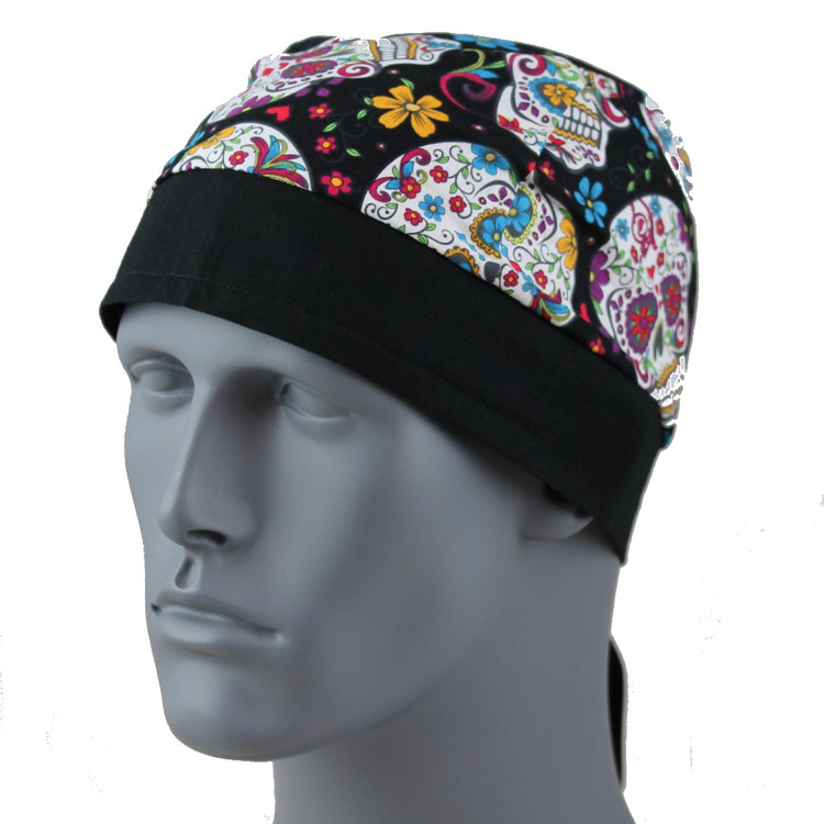 Flowered Skulls By Doo Rag Station