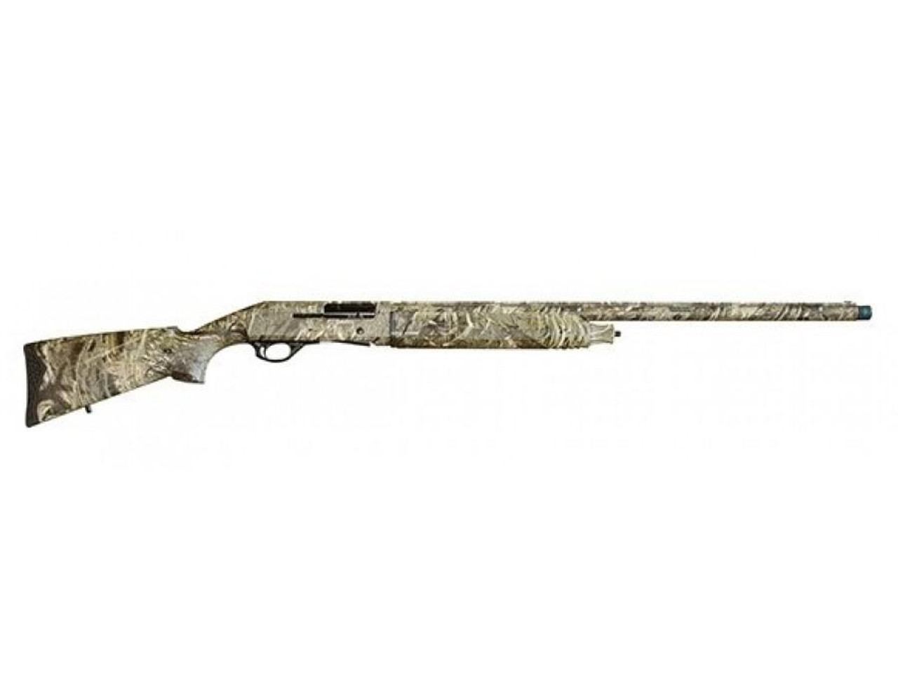 "Canuck Hunter Semi-Auto Shotgun, 20 Gauge, 3"", 28"" Brl, Mossy Oak Duck Blind Camo 4+1 plug to 2+1 Shots, 5 Chokes, Hard Case, Canuck Markings"