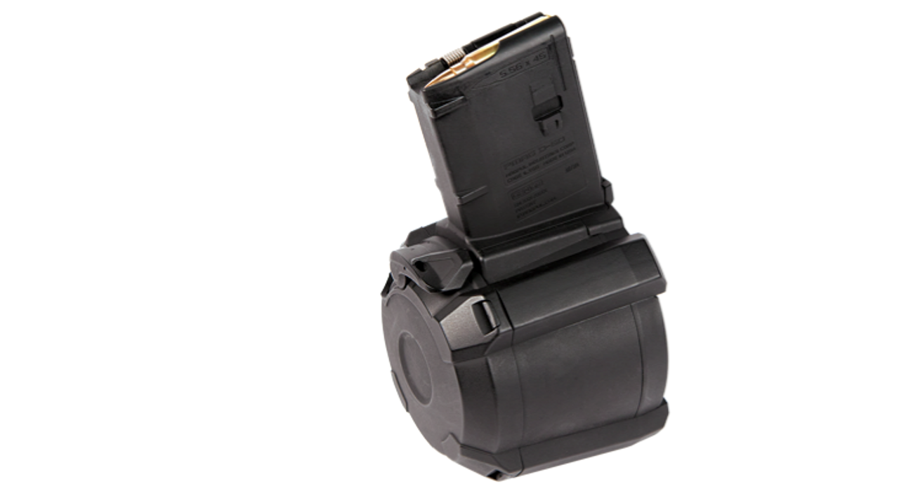 PMAG® D-60™ AR/M4 5.56X45MM NATO (pinned to 5 rounds)