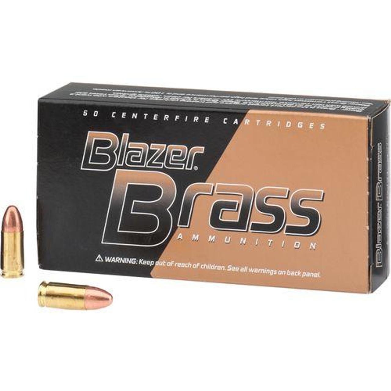 9MM 124Gr FMJ Blazer Brass (Box of 50)