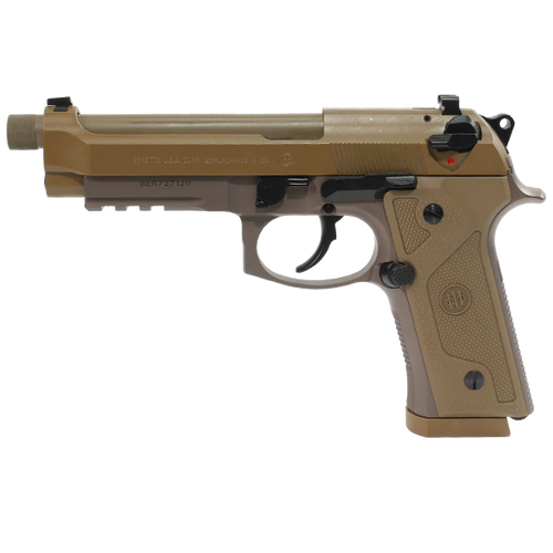 """BERETTA M9A3 W/RAIL, 4.90"""" THREADED BARREL, FLAT DARK EARTH, 9MM"""