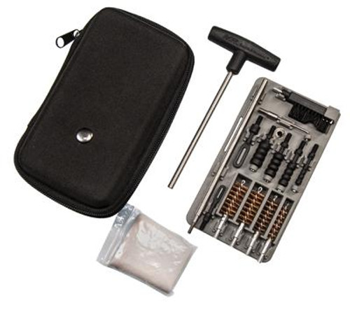 M&P COMPACT PISTOL CLEANING KIT FOR .22 9MM .357 .38 .40 10MM AND .45 CALIBER HANDGUNS