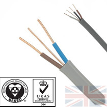 50m 10mm 6242Y Grey Twin & Earth Cable Quality Flat Wire BASEC Approved Reel
