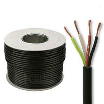 100m Reel Black 3184Y 1.0mm 4 Core Round PVC Flexible Cable Wire