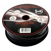 50 Meters 2x 0.75mm² Red/Black Round Speaker Audio Cable Loudspeaker Wire Car Home Hifi