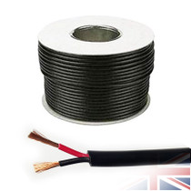50 Meters 2x 2.5mm² Red/Black Round Speaker Audio Cable Loudspeaker Wire Car Home Hifi