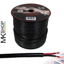100 Meters 2x 4.0mm² Red/Black Round Speaker Audio Cable Loudspeaker Wire Car Hifi
