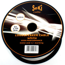 100 Meters 2x 2.5mm White Twin Speaker Audio Cable Loudspeaker Wire Car Home Hifi
