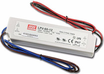 MEAN WELL LPV-60-12 12V 60W Waterproof IP67 LED Driver Transformer Power Supply