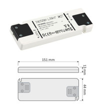 Flat 12V DC 15W LED Strip Driver Transformer Power Supply For LED Lights