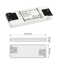 Flat 12V DC 30W LED Strip Slim Driver Transformer Power Supply For LED Lights
