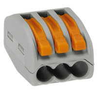 Wago 222-413 Series 3-Way Lever Compact Electric Wire Connectors