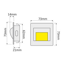 Step LED 12V LED Fitting Spot Light Recessed Stage Stair Wall Staircase