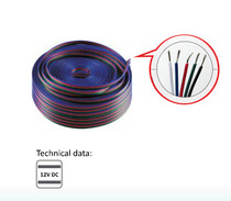 100 Metres 5 Wire Lighting Extension Cable for 12V LED RGBW Strip Light