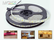 5 Metres 5050 IP20 RGBW Warm White SMD LED Strip Lights + 12V Adapter Kitchen Room