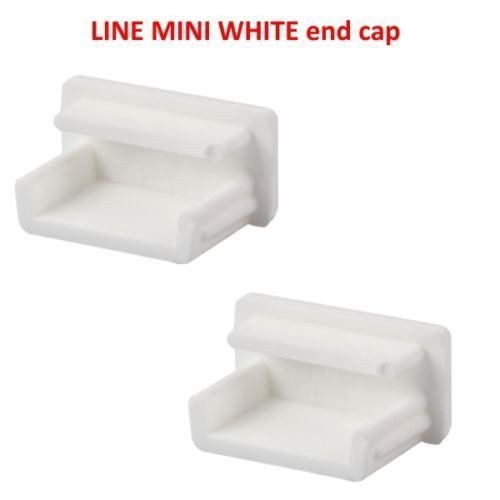 2x End Caps For LineMini White Aluminium Channel LED Profiles