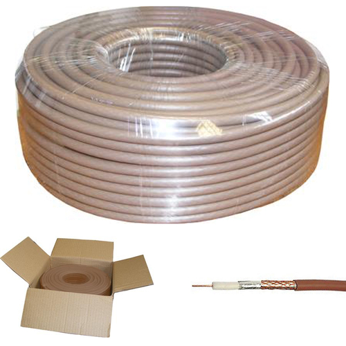 250m BROWN RG6 Digital Satellite Aerial Coax Cable for Sky, Freesat & TV Aerial