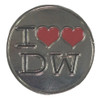 """I """"Double Heart"""" Love The Doctor Pin"""