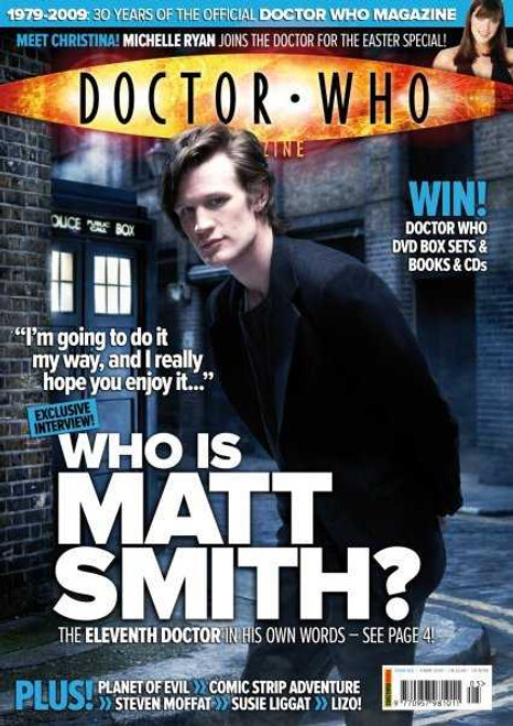 Doctor Who Magazine #405 - First Matt Smith interview and cover