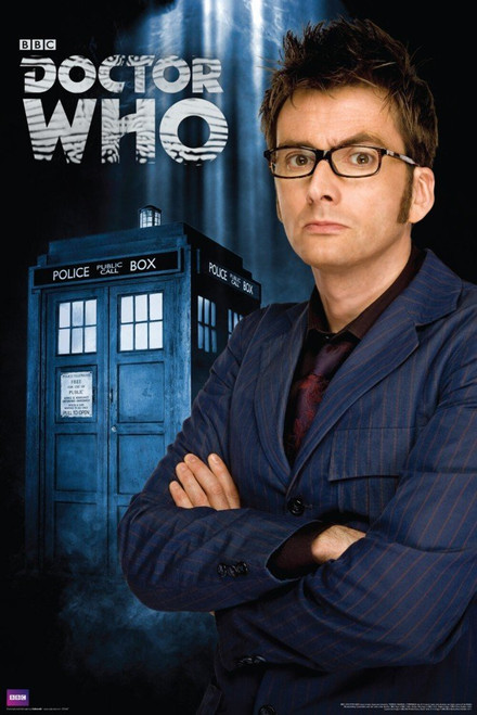 "10th Doctor (David Tennant) and TARDIS Exclusive Poster 24"" X 36"""